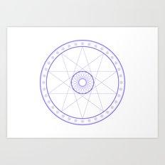 Anime Magic Circle 10 Art Print