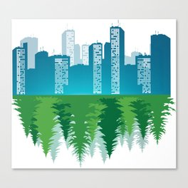 Urban Myth Rural Legend Canvas Print