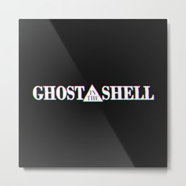 Glitch In The Shell Metal Print