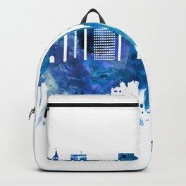 Bordeaux France Skyline Blue Backpack