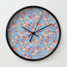 Gumnuts watercolour (blue background) Wall Clock