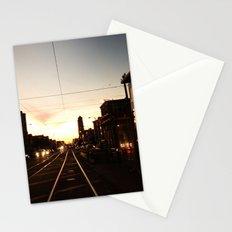 San Francisco Muni Njudah Sunset Silhouette  Stationery Cards