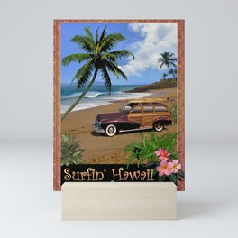 Surfin' Hawaii Mini Art Print