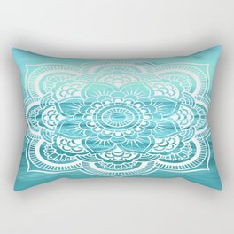 Mandala : Aqua Sunset Waters Rectangular Pillow