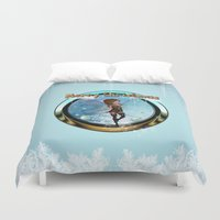 elf Duvet Covers featuring Cute elf  by nicky2342