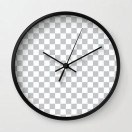 Light Grey Checkerboard Pattern Wall Clock