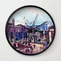 rome Wall Clocks featuring Rome by jbjart
