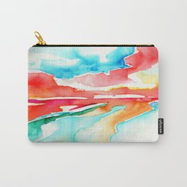 fire in the sky - beach at sunset Carry-All Pouch