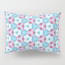 Flower-Kaleidoscope Blue Pillow Sham
