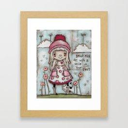 Happy Heart - Motivational Art for Girls Framed Art Print