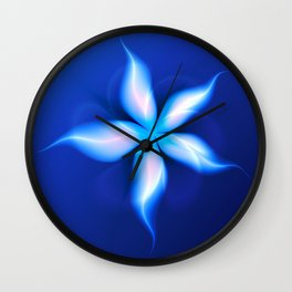 La Fleur Magique de la Sorcière Fractal Wall Clock
