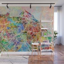 Edinburgh Street Map Wall Mural