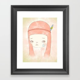 HATE YOU MISS YOU Framed Art Print