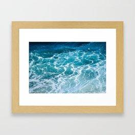 Ocean Waves in Hawaii Framed Art Print