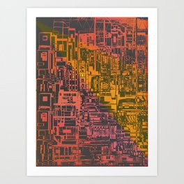 Where Are YOU / Density Series Art Print