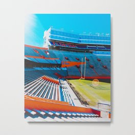 Gator Stadium ft a Glare, UF Metal Print