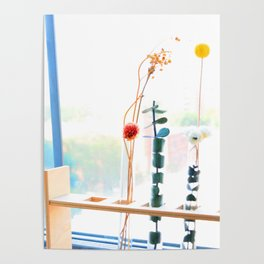 Dry Flowers by the Window Poster