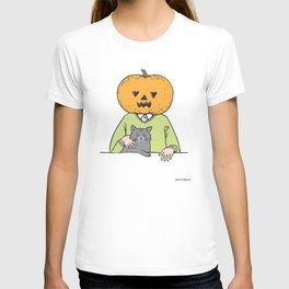 Pumpkinhead & cat T-shirt