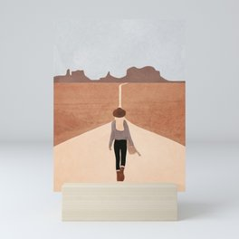 Through the Desert Highway IV Mini Art Print