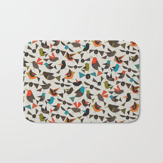 just birds china white Bath Mat