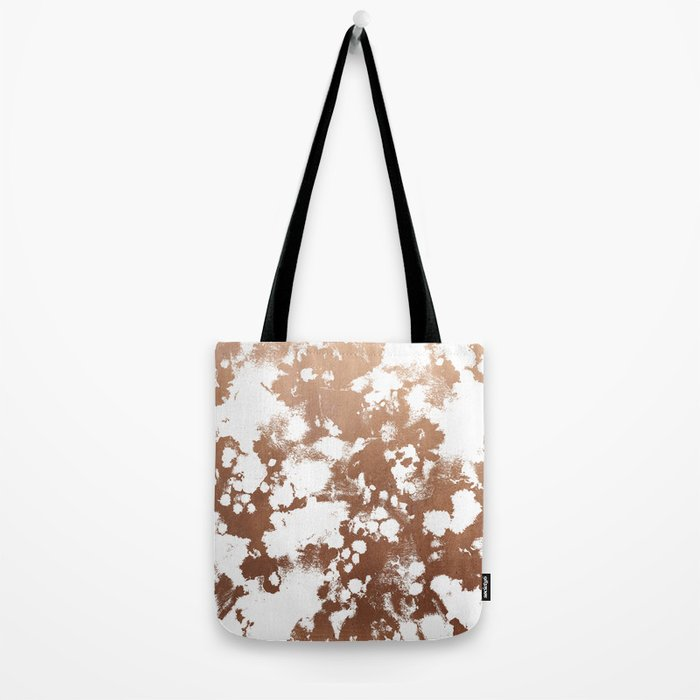 Rose Gold shiny metal sparkle modern pattern abstract rosegold trendy pattern cell phone accessories Tote Bag