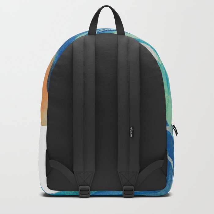 Parrot watercolour painting Backpack