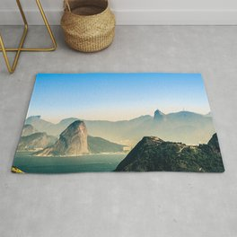 Rio de Janeiro Panoramic Photography Rug