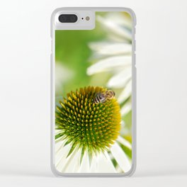 Rudbeckia white 065 Clear iPhone Case