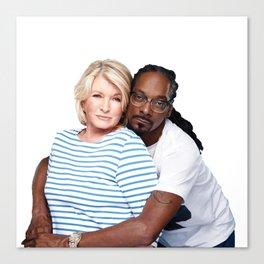 Martha & Snoop Canvas Print