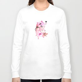 Three and Free Little Pigs Long Sleeve T-shirt