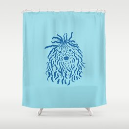 Puli (Sky Blue and Blue) Shower Curtain