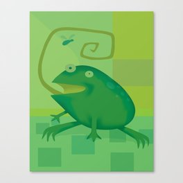Shallow Frog Canvas Print