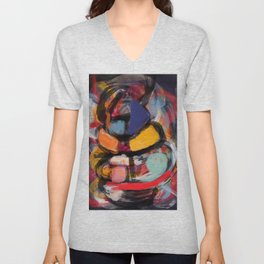 Abstract art expressionist Unisex V-Neck