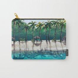 Honeymoon Beach Palm Carry-All Pouch