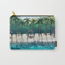 Honeymoon Beach Palm Carry-All Pouch