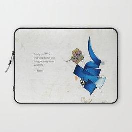 Arabic Calligraphy - Rumi - Journey Into Self Laptop Sleeve