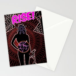 Woman Rise Stationery Cards