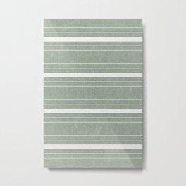 hanover woven stripes - sage Metal Print