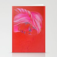 mother of dragons Stationery Cards featuring Mother of Dragons by Erin Garey