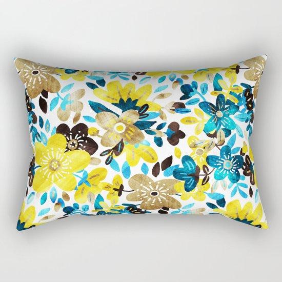 Happy Yellow Flower Collage Rectangular Pillow
