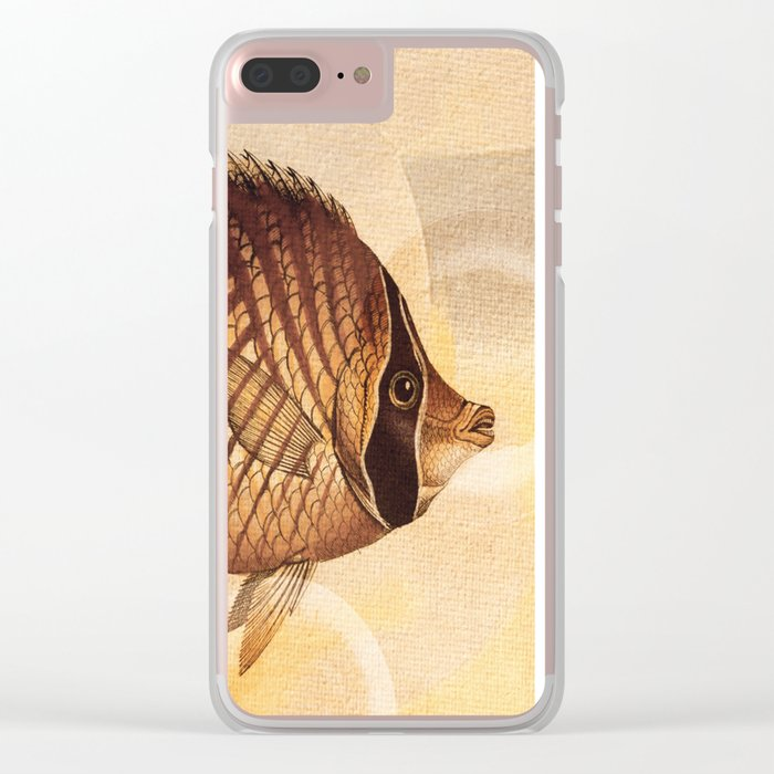 Fish Between Circles 3 Clear iPhone Case