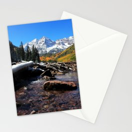 Maroon Bells in Aspen, Colorado Stationery Cards