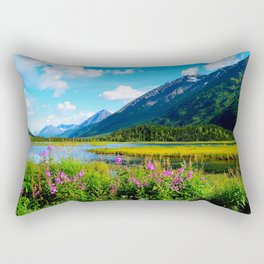 God's Country - Summer in Alaska Rectangular Pillow