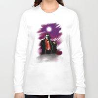 dracula Long Sleeve T-shirts featuring Dracula by JT Digital Art