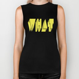 WHAT: Yellow Biker Tank