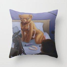 Porn Star Teddy Throw Pillow