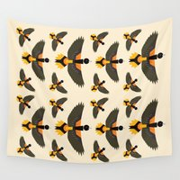 baltimore Wall Tapestries featuring Baltimore Oriole  by Alysha Dawn