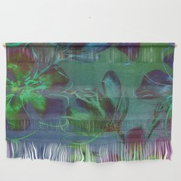 Jewel Toned Flowers Wall Hanging