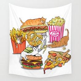 Cats & Junk Food Wall Tapestry
