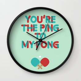 Love is like ping pong Wall Clock